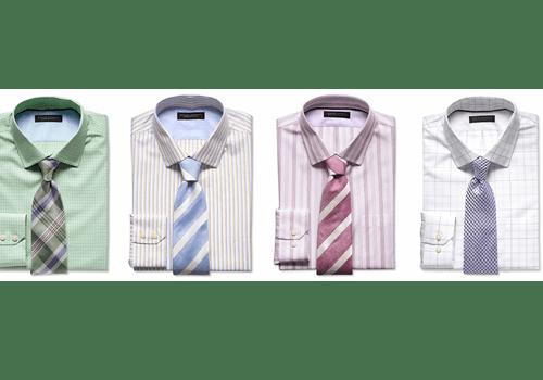 ست پیراهن چهارخانه با کراوات