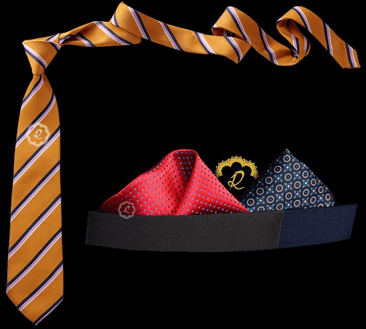 کراوات و دستمال جیبی کت