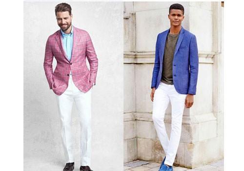 کت تک مردانه با شلوار سفید