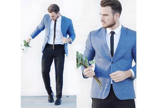 ست کت تک مردانه با کراوات