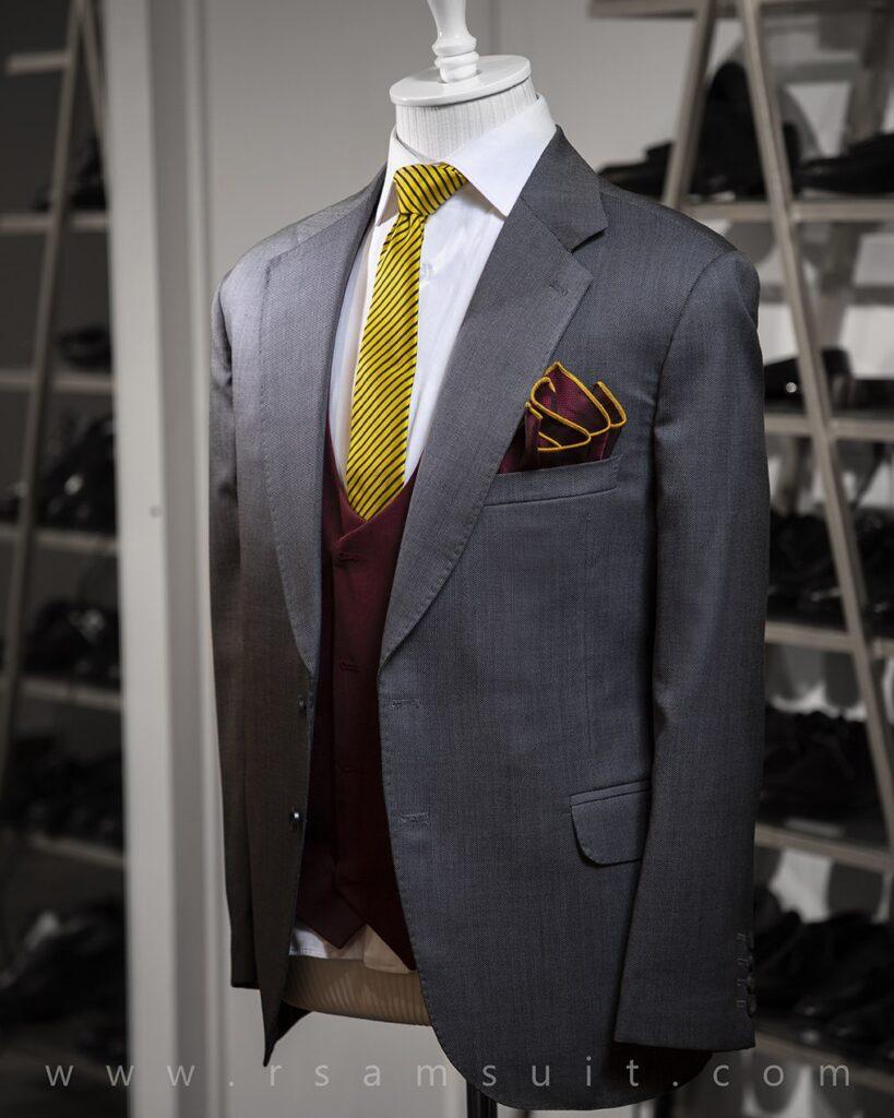 کراوات و پوشت زرد