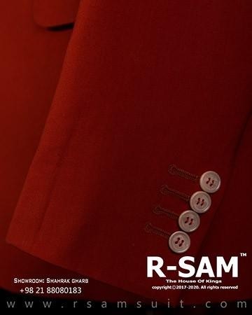 کت شلوار سینگل برست یقه بلیزر پهن تک دکمه مدل 3 جیب 3 - سرای پادشاهان آرسام