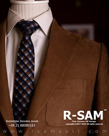 کت تک اسپرت یقه انگلیسی تک دکمه مدل جیب از رو (جنس پارچه مخمل) 1 - سرای پادشاهان آرسام