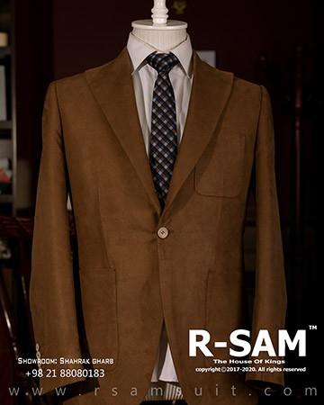 کت تک اسپرت یقه انگلیسی تک دکمه مدل جیب از رو (جنس پارچه مخمل) 2 - سرای پادشاهان آرسام