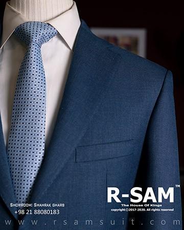 کت شلوار سینگل برست یقه انگلیسی دو دکمه مدل جیب از رو 1 - سرای پادشاهان آرسام