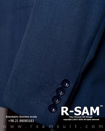 کت شلوار سینگل برست یقه انگلیسی دو دکمه مدل جیب از رو 3 - سرای پادشاهان آرسام