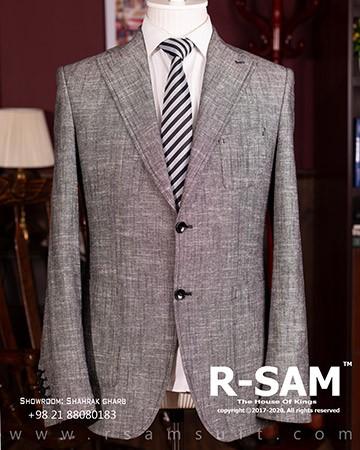 کت تک اسپرت یقه انگلیسی دو دکمه مدل جیب از رو با پارچه لینن پنبه 2 - سرای پادشاهان آرسام
