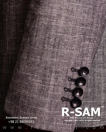 کت تک اسپرت یقه انگلیسی دو دکمه مدل جیب از رو با پارچه لینن پنبه 3 - سرای پادشاهان آرسام