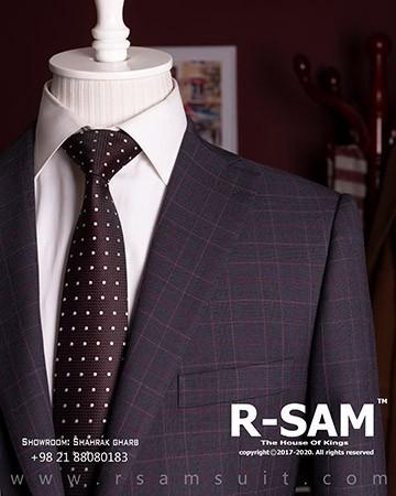 کت شلوار سینگل برست یقه انگلیسی تک دکمه مدل 3 جیب 1 - سرای پادشاهان آرسام