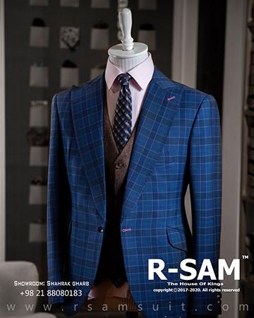 کت تک رسمی یقه بلیزر پهن تک دکمه مدل جیب کج 1 - سرای پادشاهان آرسام