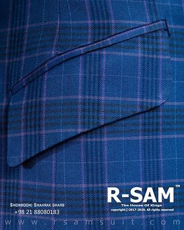 کت تک رسمی یقه بلیزر پهن تک دکمه مدل جیب کج 2 - سرای پادشاهان آرسام