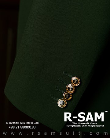 کت و شلوار دابل برست یقه بلیزر پهن (6 دکمه مدل جیب کج) 3 - سرای پادشاهان آرسام