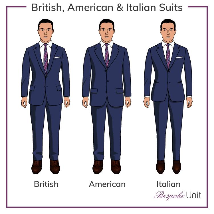 تفاوت کت و شلوار انگلیسی و کت و شلوار ایتالیایی