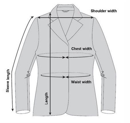 اندازه مناسب کت تک مردانه - آرسام