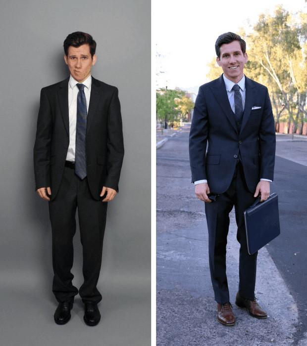 مدل کت و شلوار مردانه برای افراد کوتاه قد