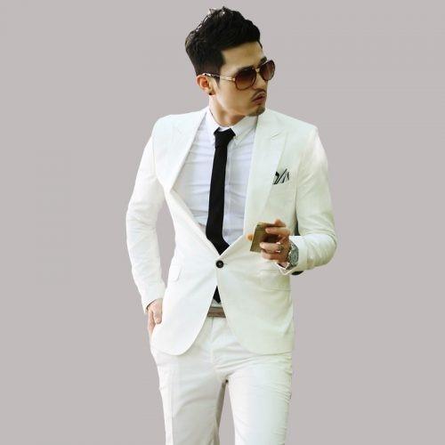 پیراهن های مختلف برای کت شلوار سفید