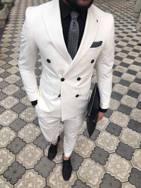 کفش مناسب کت شلوار سفید